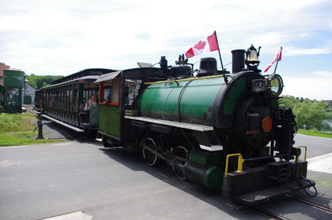 Portage Flyer under steam